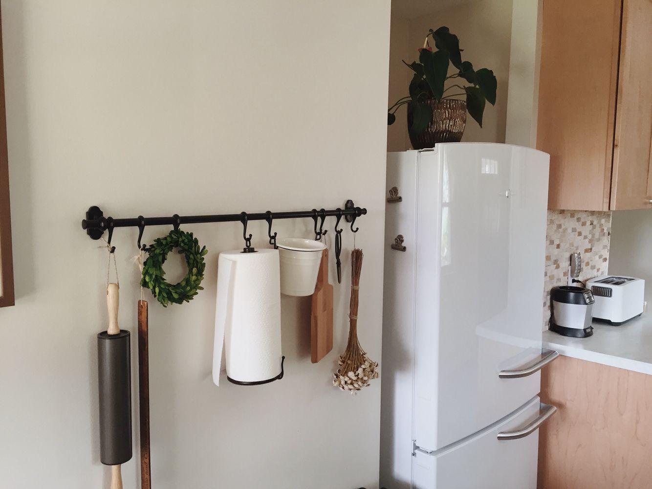 Ikea Küchenrollenhalter ~ Ikea hack paper towels foil plastic kitchen