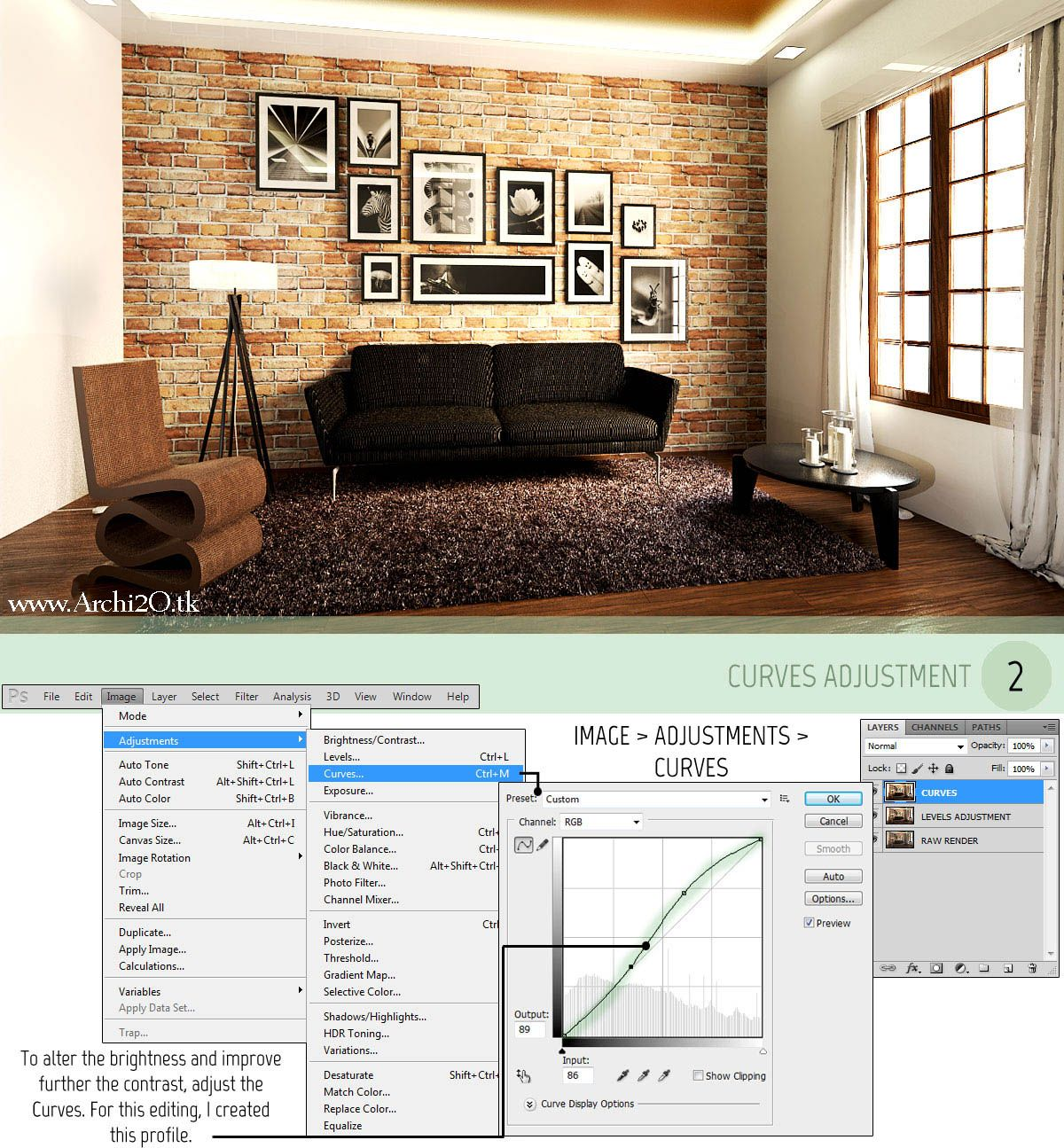 3d Max Home Design Tutorial: Vray For SketchUp Tutorial Part 3: POST-PROCESSING Full