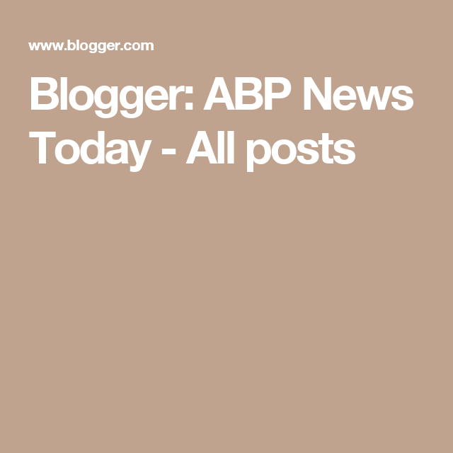 Blogger: ABP News Today - All posts
