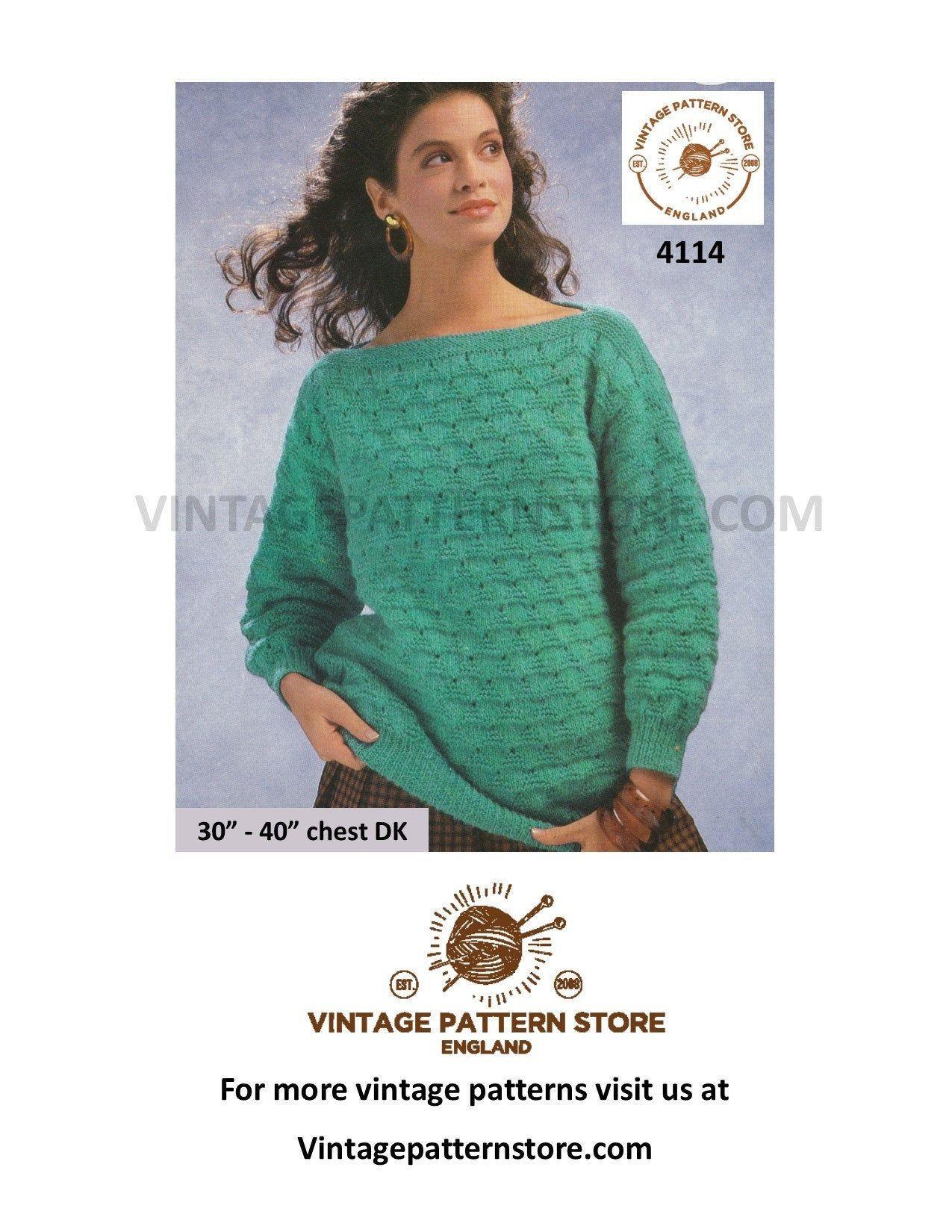 KNITTING PATTERN Ladies Short Sleeve Round Neck Lace Jumper /& Cardigan DK 4079