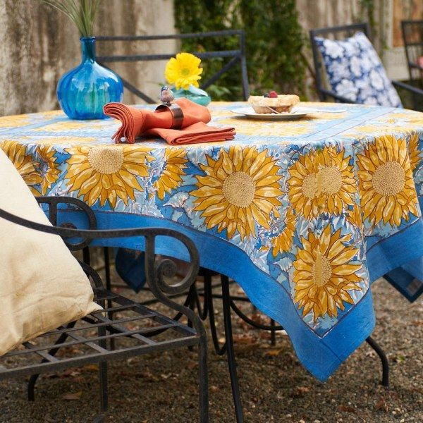 Tuscan Table Cloths Google Search Blue Tablecloth French