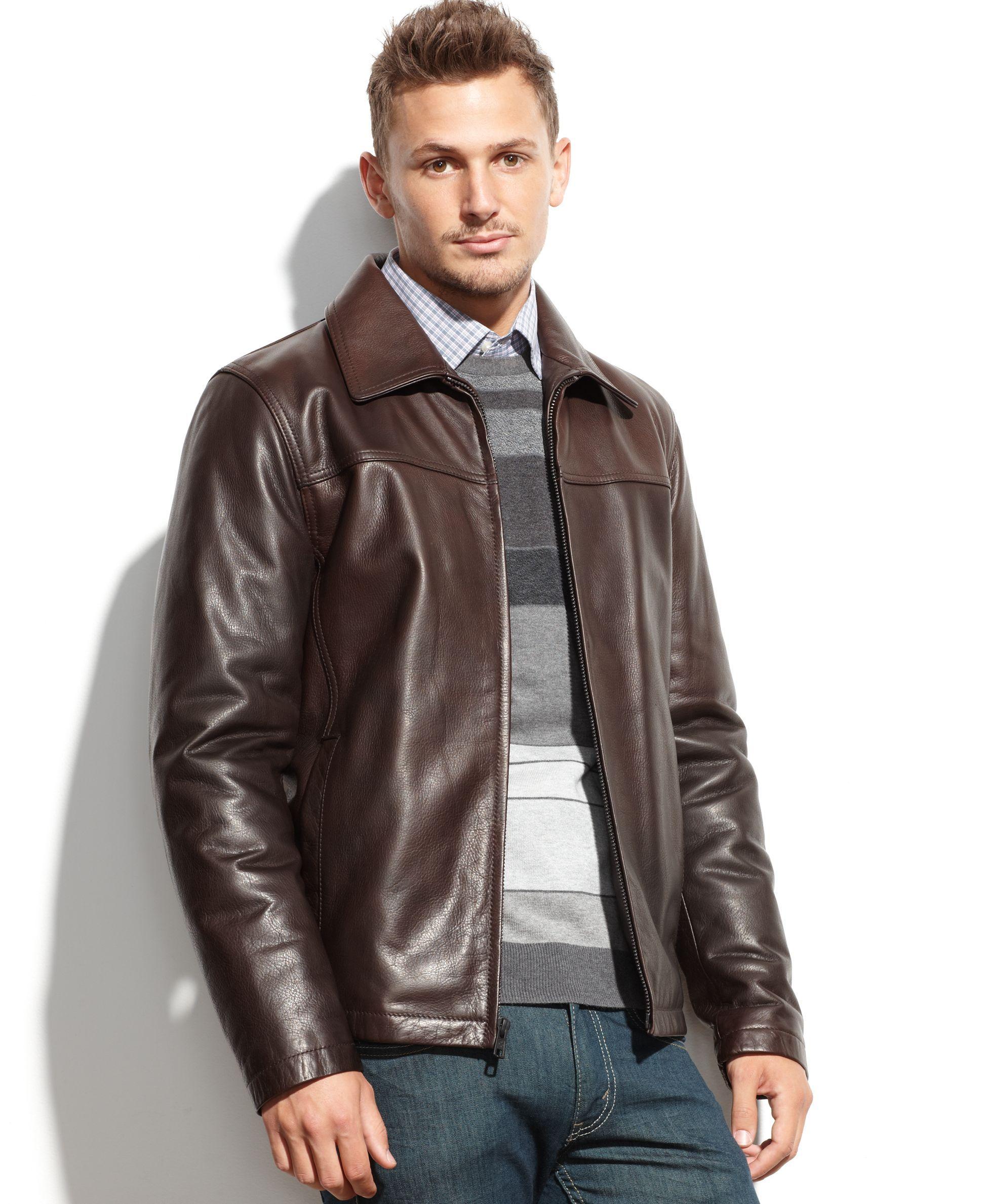 Vince Camuto Jacket Leather Jacket Coats Jackets Men Macy S Leather Jacket Leather Jacket Men Jackets