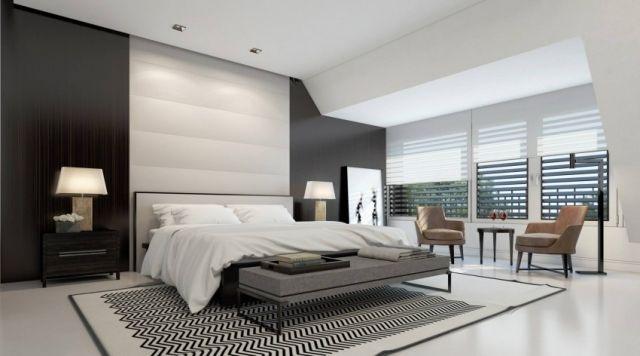 Hochwertig Schlafzimmer Schwarz Weiss Modern  #wandgestaltung