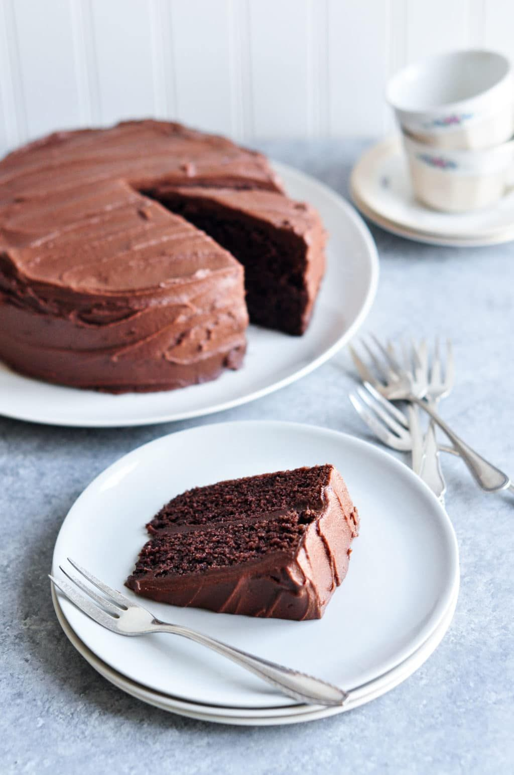 Sour Cream Chocolate Cake With Step By Step Photos Eat Little Bird Recipe Sour Cream Chocolate Cake Cake Recipes Chocolate Cake Recipe