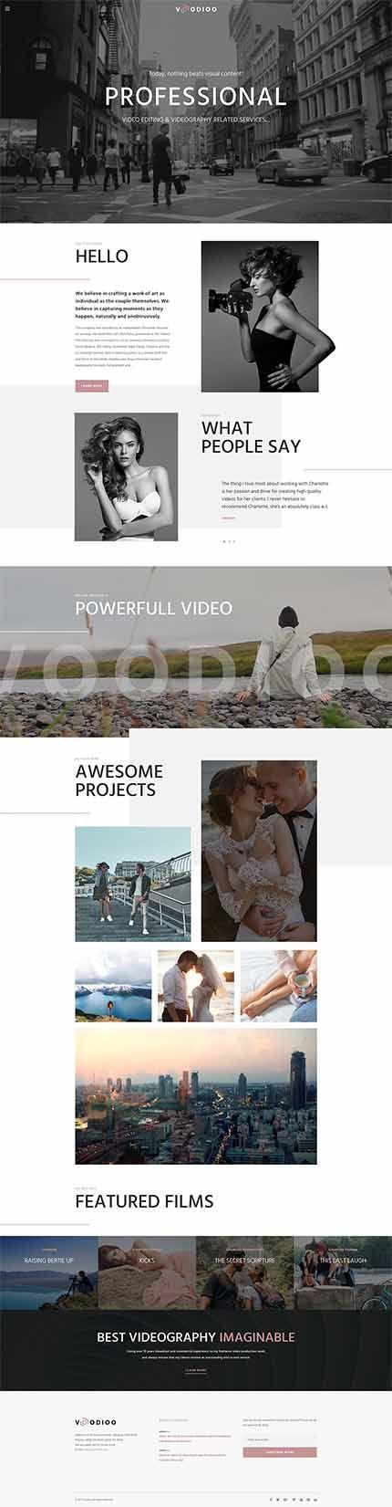 Voodioo - Videographer Responsive WordPress Theme WordPress Theme ...