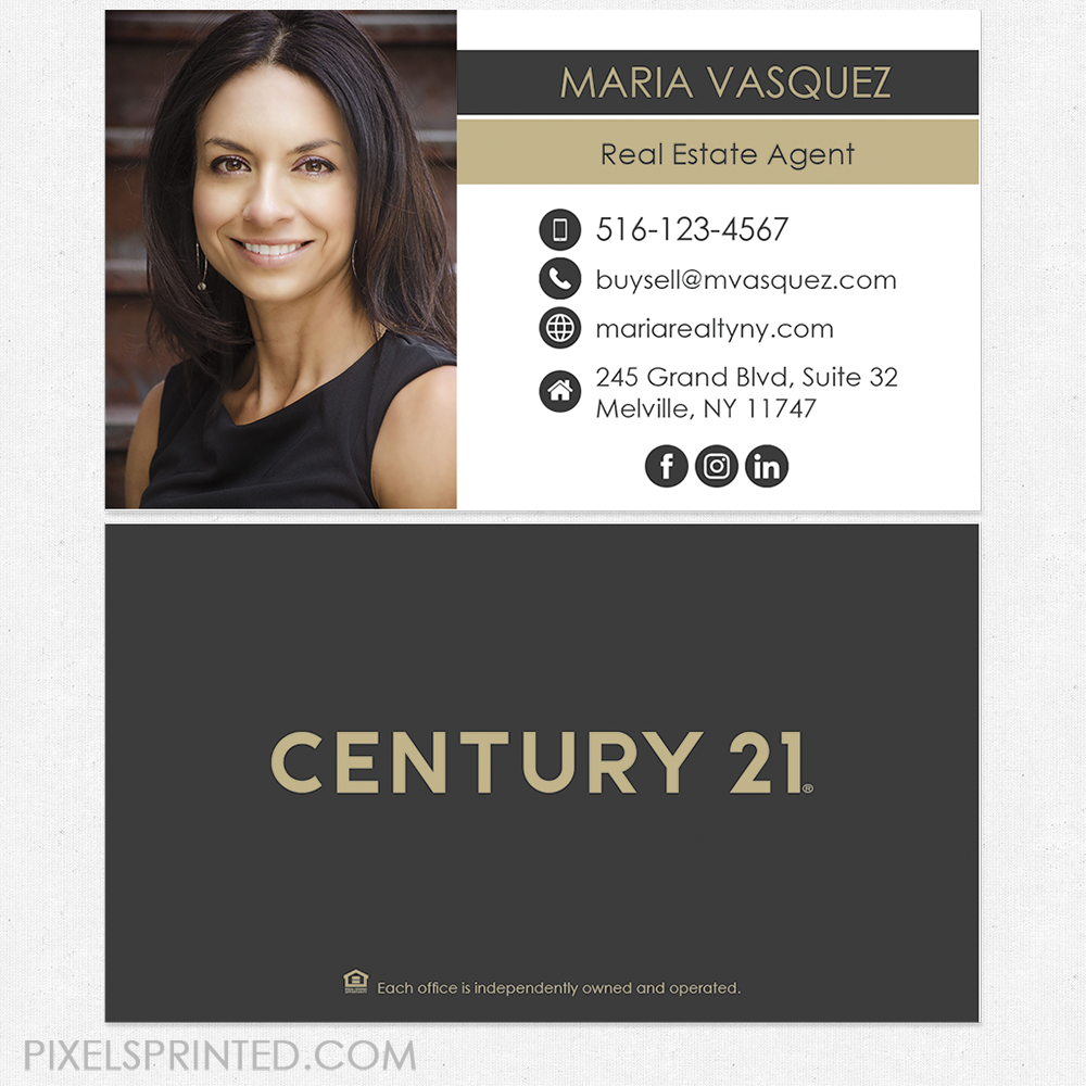 new Century 21 logo cards, Century 21 business cards, real estate ...