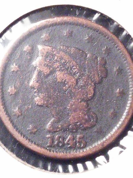1845 Braided Hair Cent Rare Us Penny Us Penny Coin Collectors Rare Stamps