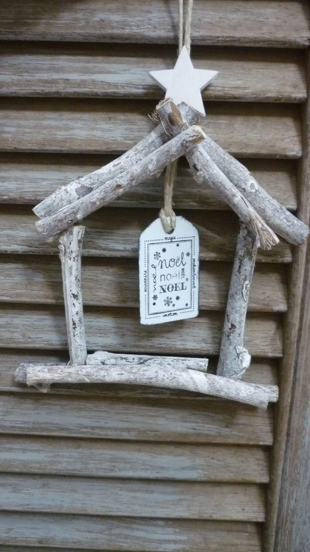 Petite Maison De Bois Noel A Suspendre Accessoires De Maison Par
