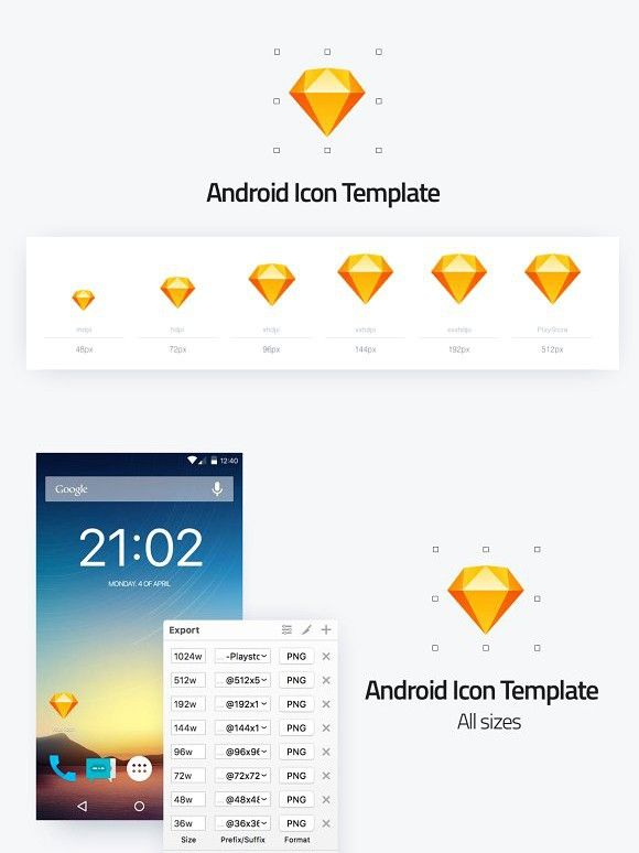 android icon template all sizes icons pinterest android