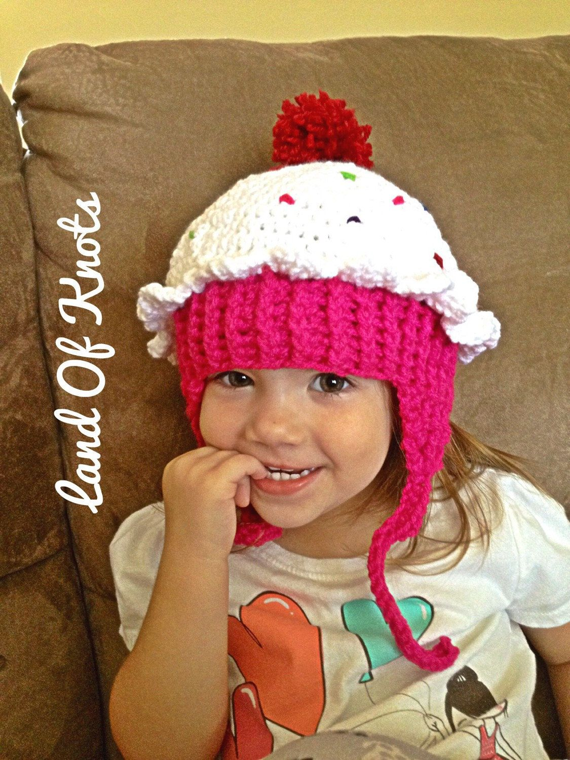 Crochet cupcake hat cupcake hat cupcake beanie first birthday crochet 1st birthday cupcake hat birthday hat special occassion hat pink and white bankloansurffo Images