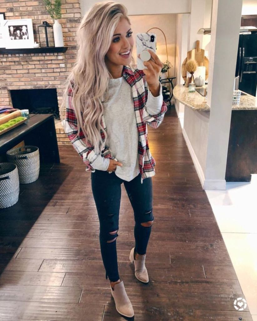 Nice 53 Cute Womens Fashion Outfits Ideas More At Https Fashionssories Com Index Php 2018 12 27 Fashion Clothes Women Cute Fall Outfits Casual Fall Outfits
