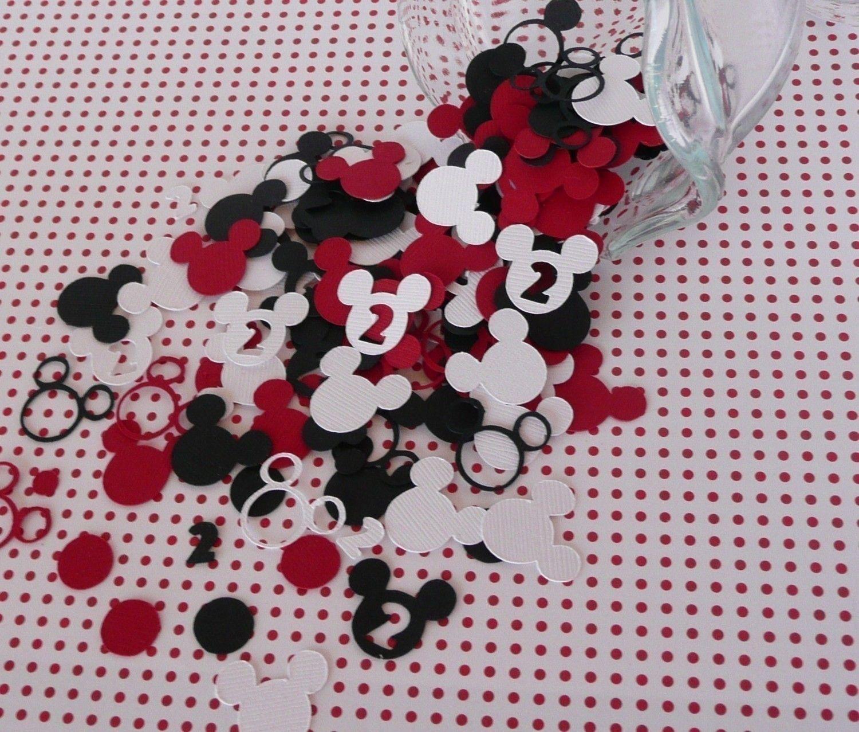 redblack mickey minnie mouse birthday party table confetti 450 pieces custom age