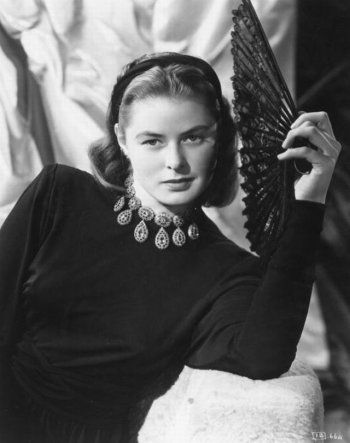 Portrait of Ingrid Bergman in Notorious directed by Alfred Hitchcock, 1946
