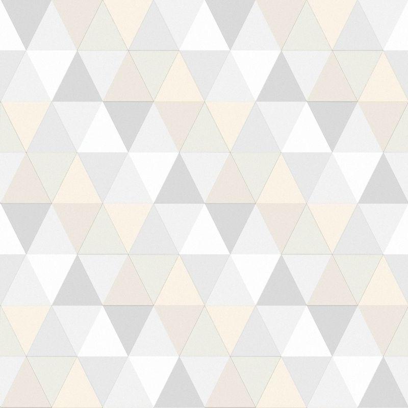vliestapete 'triangle' grau/beige/warmweiß | renovieren, maritim ... - Tapete Grau Beige