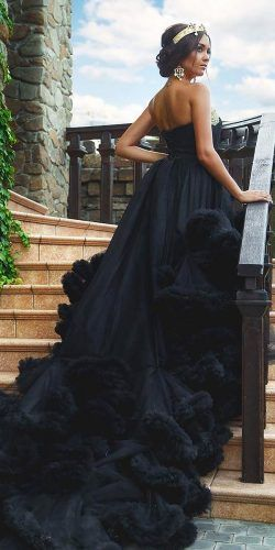 21 Black Wedding Dresses With Edgy Elegance