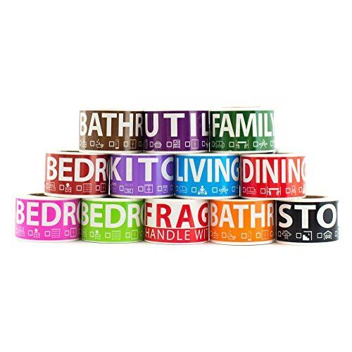 600 Home Moving Labels For 3 Bedroom House 50 Labels Per Room 12 Color Coded Label Rolls Fragile Label Included F Wardrobe Boxes Fragile Label Moving Boxes