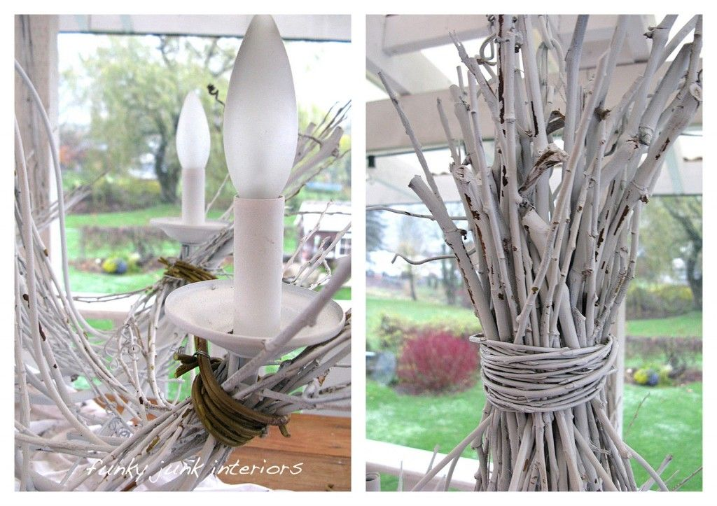 Twig Chandelier for Naturalist: White Twig Chandelier Build ~ Chandeliers Inspiration