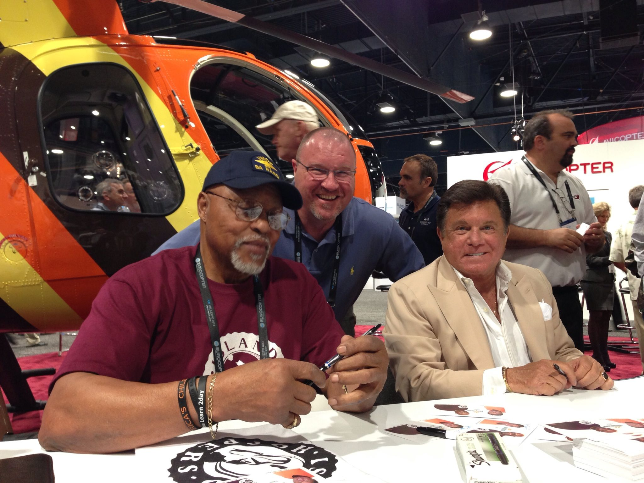 """T.C the helicopter pilot & Rick from the """"Magnum P.I"""" TV"""