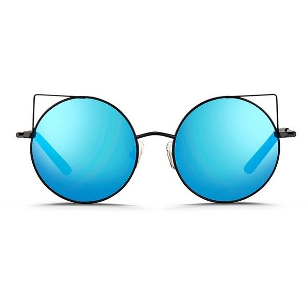 977e0d6925 Matthew Williamson Wire cat ear round mirror sunglasses ( 325) ❤ liked on Polyvore  featuring