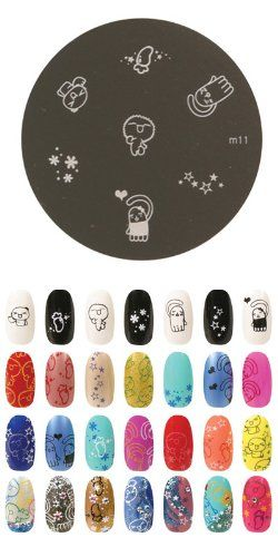 Konad Stamping Nail Art Image Plate M11 Find Out More About The Great Product At Link This Is An Affiliate NailDecalsandDecorations