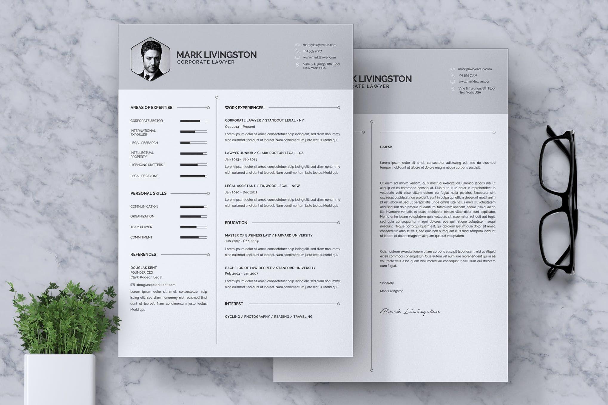 Corporate lawyer cv resume by rahardicreative on envato