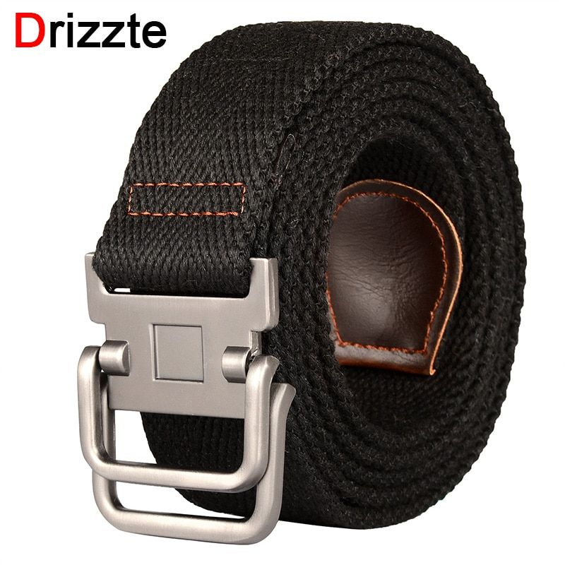 Double Ring Buckle Canvas Belt Pu27 Mens Accessories Belt