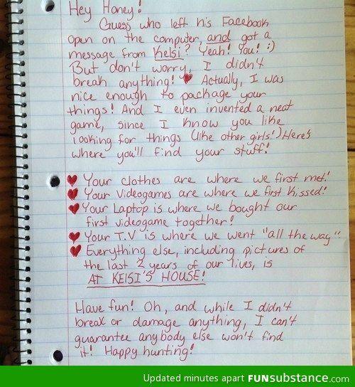 Girl Gets Revenge On Her Cheating Boyfriend Claire Pinterest