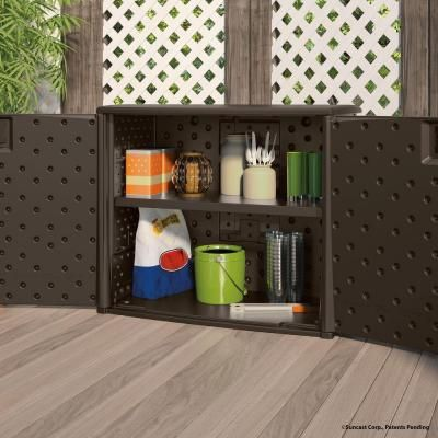 Resin Outdoor Patio Cabinet Bmoc4100 The Home Depot