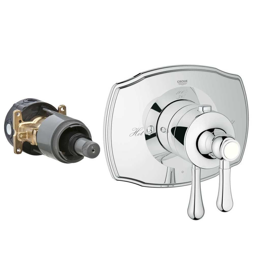 Grohe Authentic 2 Handle Grohflex Universal Rough In Box Single