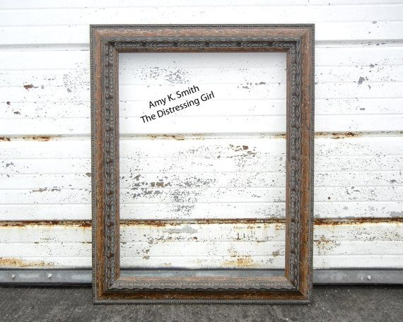 18 x 24 Frame Chunky Rustic Wooden - 18 by 24 Large Thick Barn Wood ...