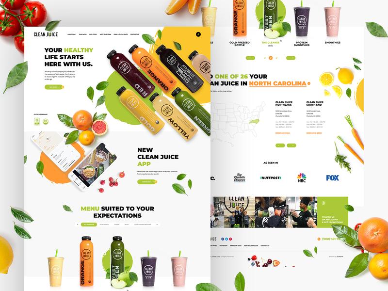 Clean Juice Web Design Juice Juice Menu
