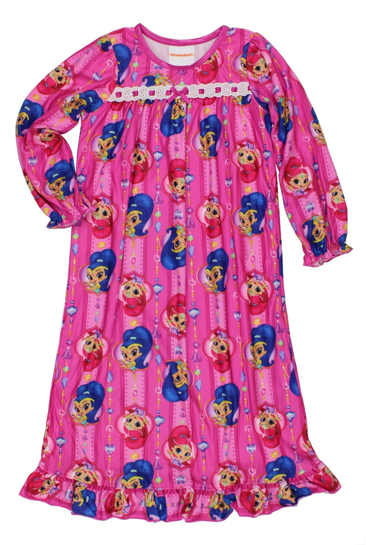 69a5bd3a5b07 Shimmer and Shine Little Girls Flannel Granny Gown Nightgown Pajamas ...