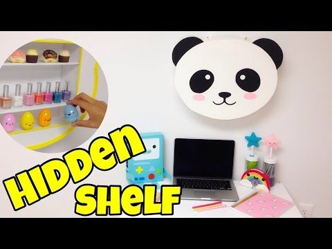Hidden Shelf Kawaii Crafts Easy Diy Room Decor Ideas Easy Diy Room Decor Diy Room Decor Kawaii Crafts