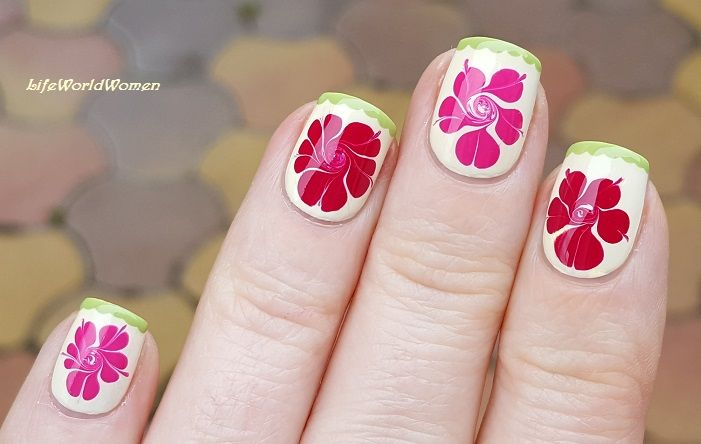 Spring #Marble #Flower #Nailart | Nail art | Pinterest | Tutorial ...