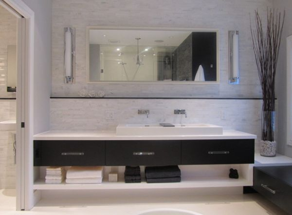Photo Gallery For Website Cool Design and clean lines give this bathroom vanity a minimalist look