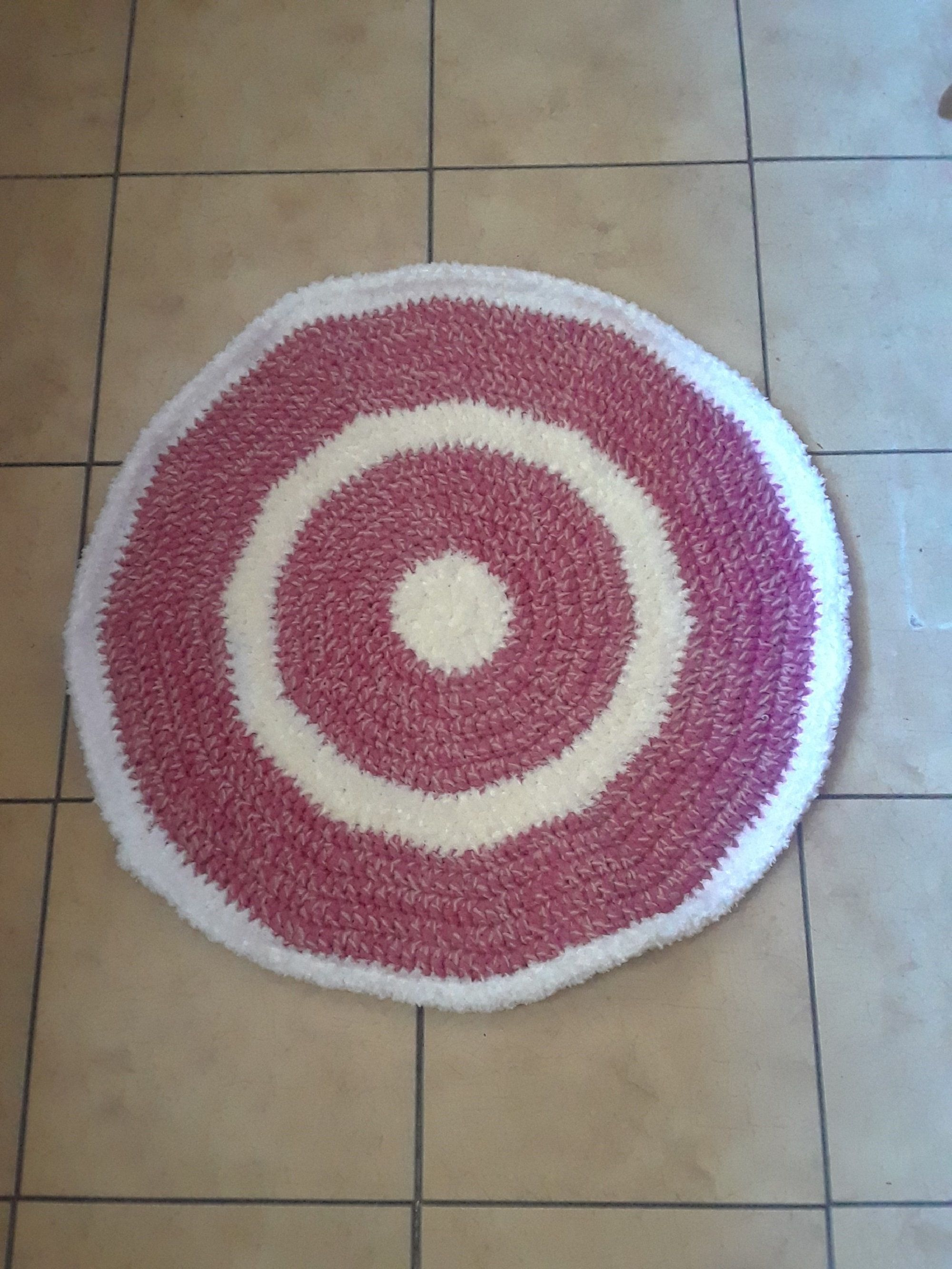 Crocheted Rug Small Throw Round