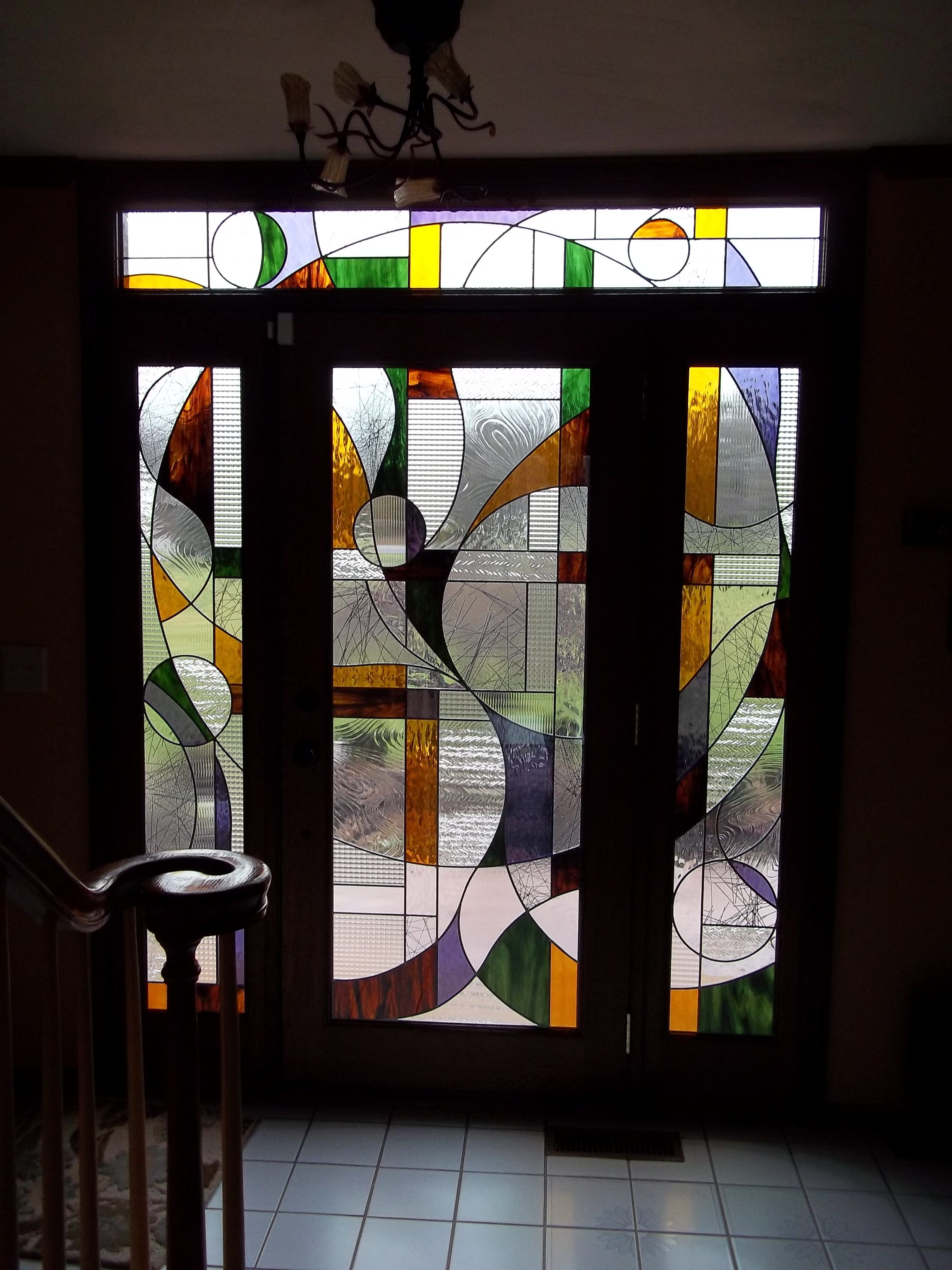Custom Stained Glass Windows Columbus Ohio Residential Homes Franklin Art Glass Stained Glass Door Stained Glass Designs Glass Art Pictures