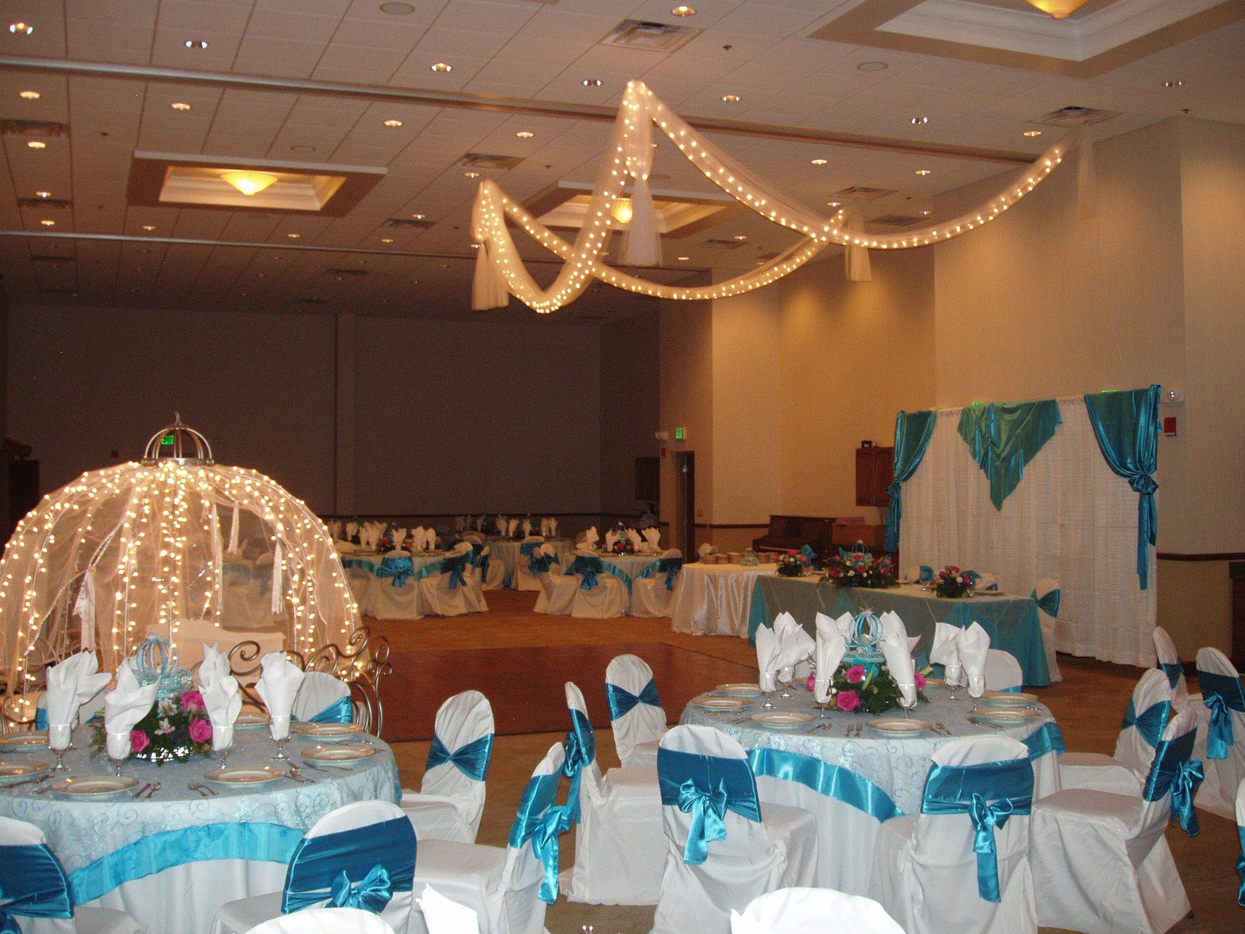 This was a quinceanera that I did Cinderella was the theme Flowers