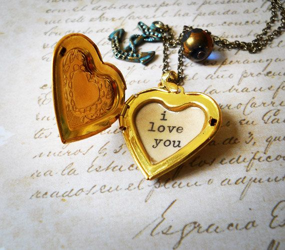 Quote Locket/quote necklace/Locket necklace /locket by akinto, $22.00