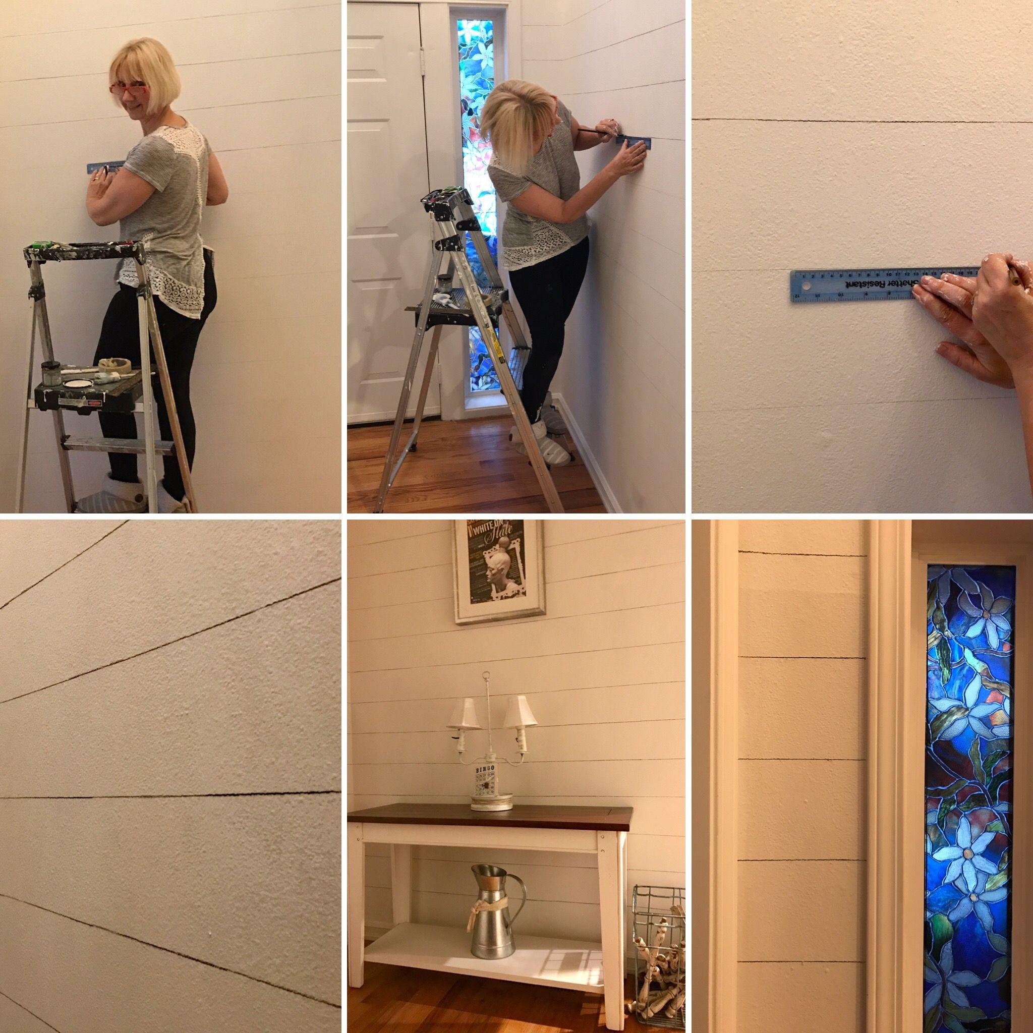 Create realistic shiplap walls using Annie Sloan Chalk Paint r