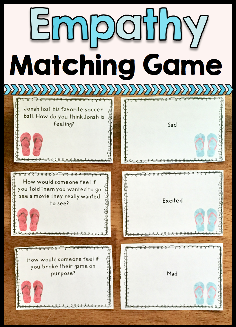Empathy Matching Game School Counseling Teaching