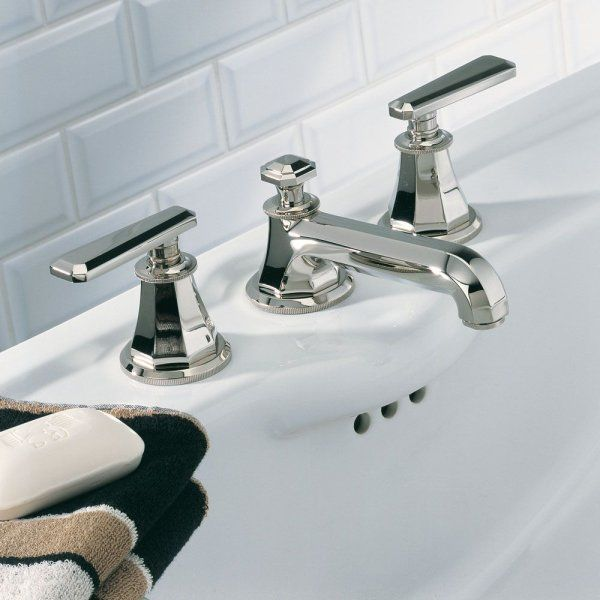 Thg Jean Claude Delepine Tradition With Lever Widespread Lavatory Faucet Art Deco Bathroomsmall