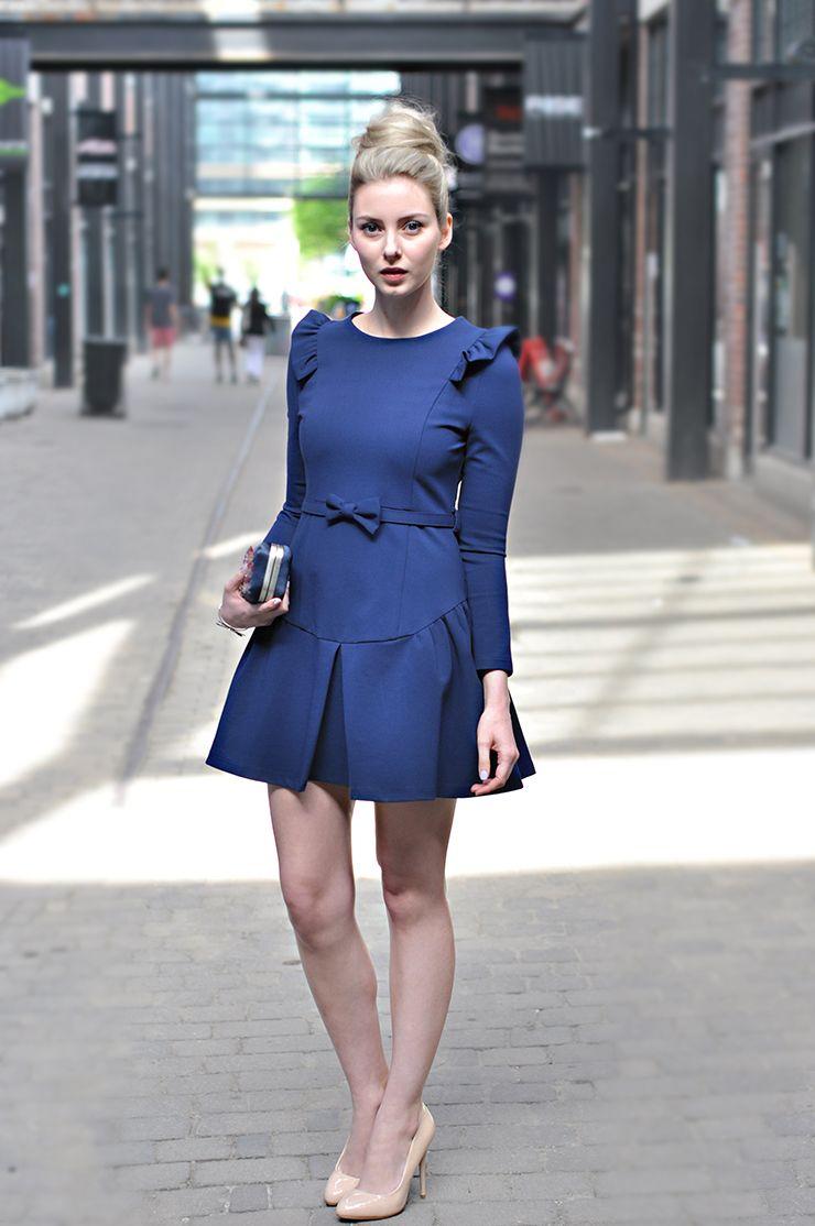 Elizabeth Victoria Clark: Navy Bow Dress