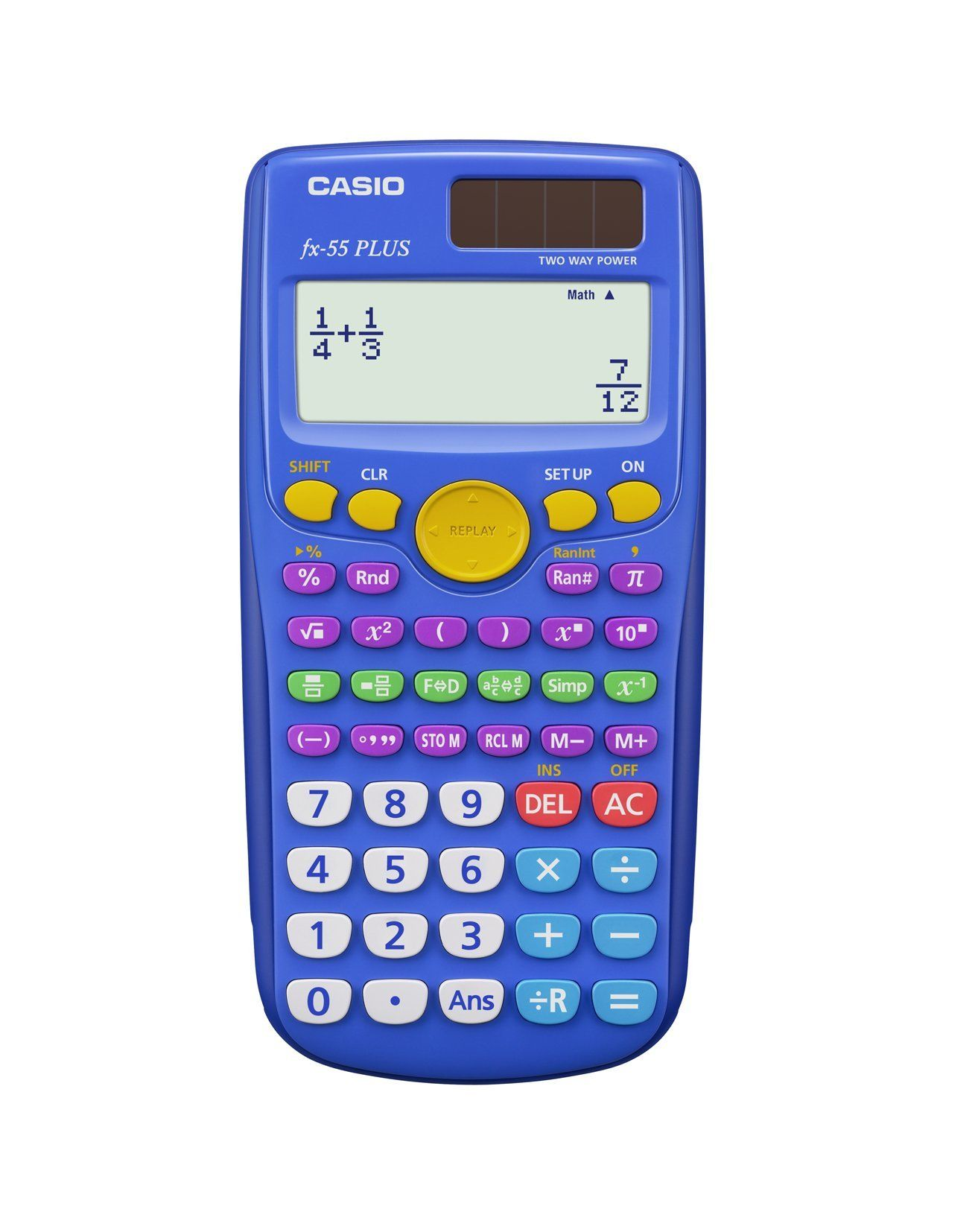 Casio Fx 55 Plus Elementary Middle School Fraction Calculator