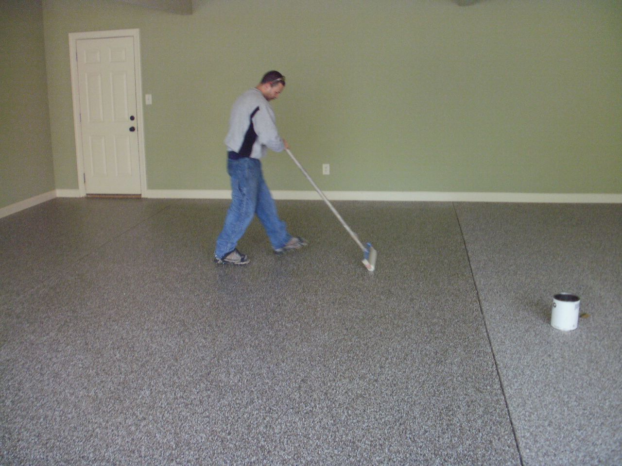 epoxy floor coating for your garage pros and cons. Garage Floor Epoxy The Is Polished Concrete And We Have Been Using It With Two Cars For A Year. Made As Blocks Small Gap Between Coating Your Pros Cons