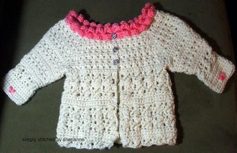 Hearts On Sleeve Baby Sweater (12 months) - Free Pattern | Baby ...