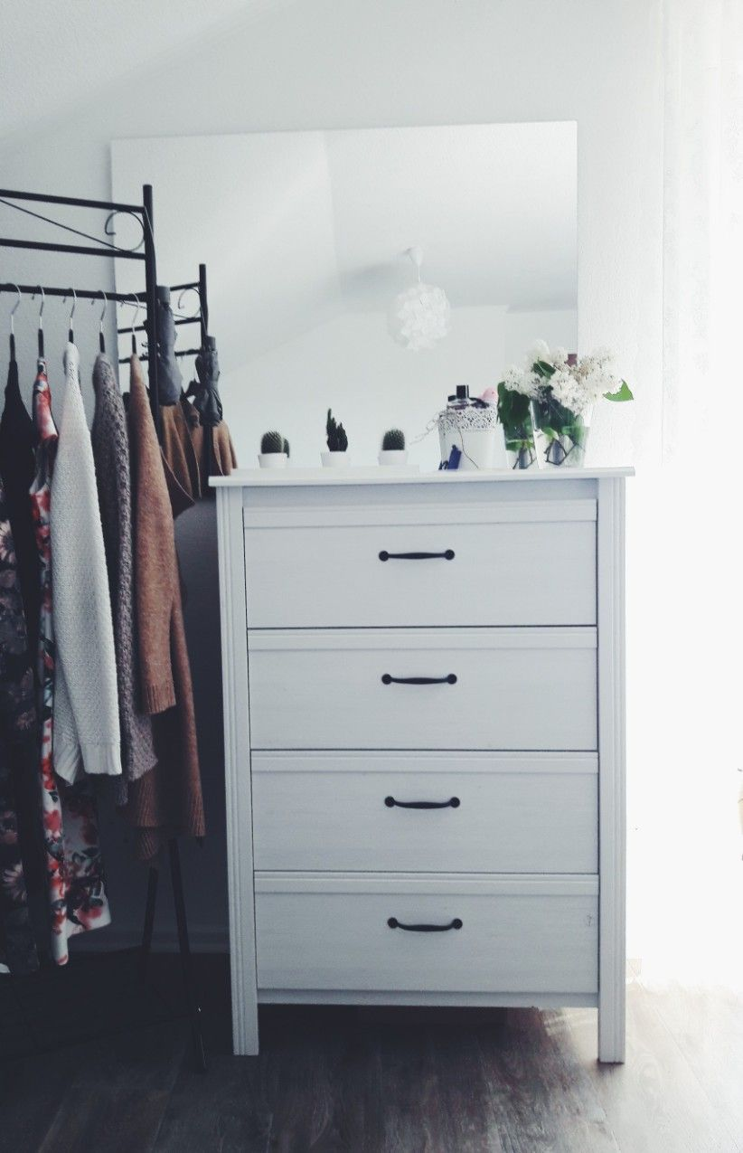 Bedroom Schlafzimmer Sideboard Ikea Schwarz Weiss Black White