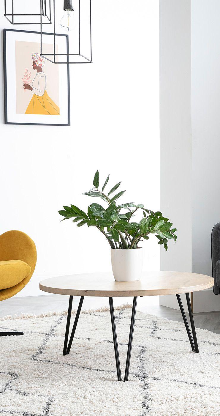 Table Basse Ronde Manguier Et Metal L80 X H40 Cm Vibes En 2020 Avec Images Table Basse Ronde Table Basse Mobilier De Salon