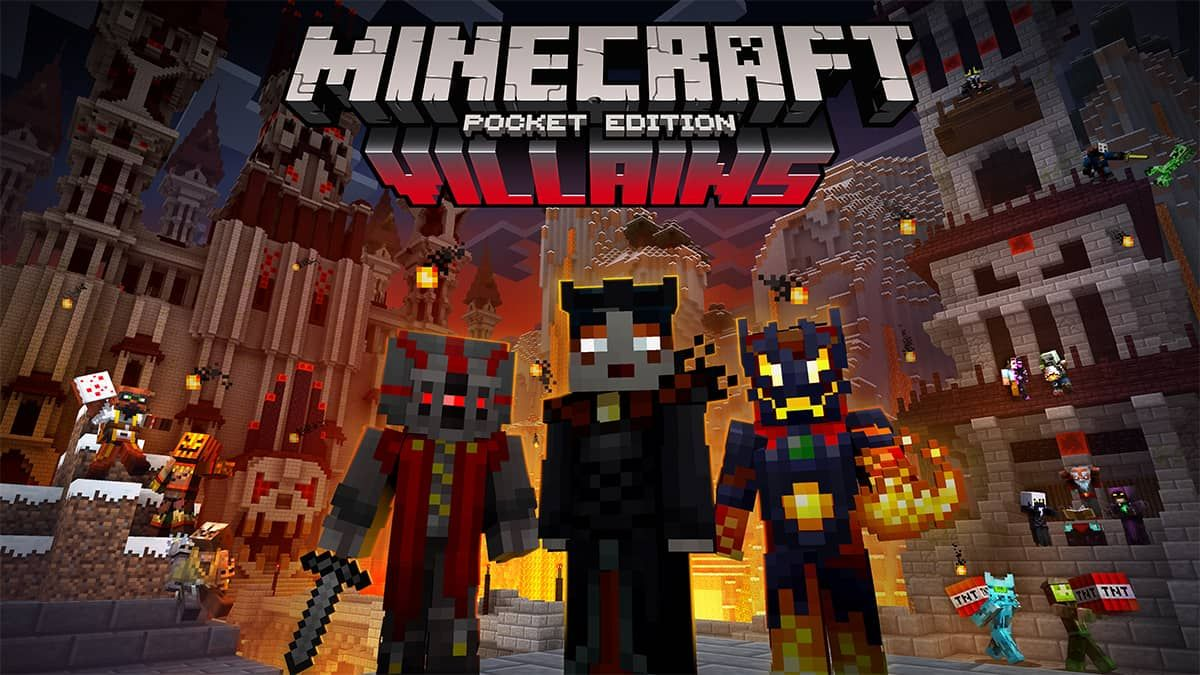 Minecraft PE Available For Download NOW Villains Skin Pack - Skins para minecraft pe 0 15 2