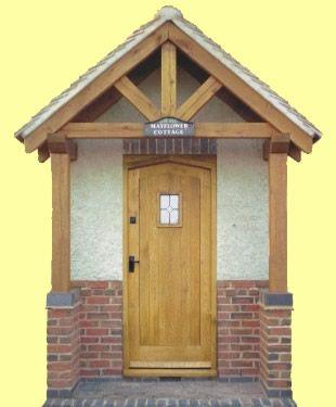 Front Door Portico Ideas Bespoke Oak Doors Stable Doors Made To Measure Traditional Oak Doors Porch Design House With Porch Car Porch Design